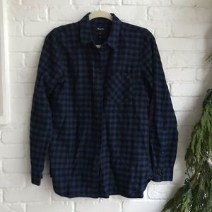 Madewell flannel Long Sleeve Button Down Small